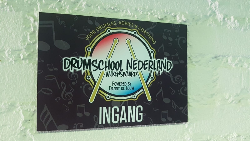 Drumschoolnederland bord 2