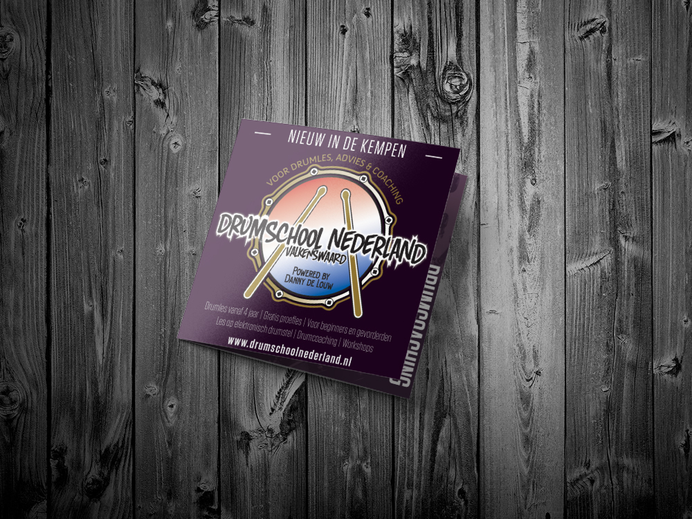 Drumschool Nederland Folder 1