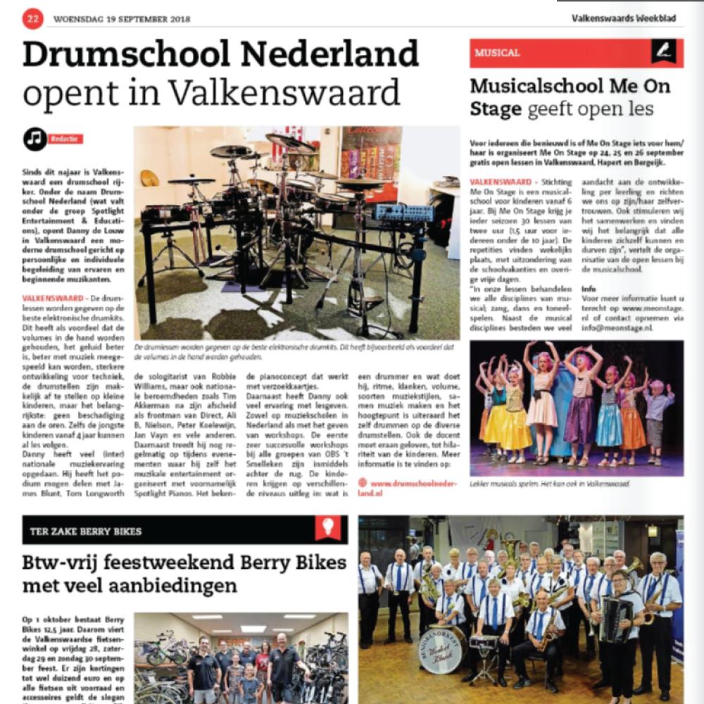 PERSBERICHT Drumschool Nederland